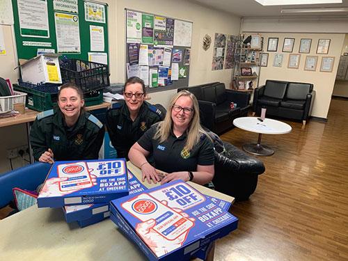 Pizza GoGo NHS Ambulance Station