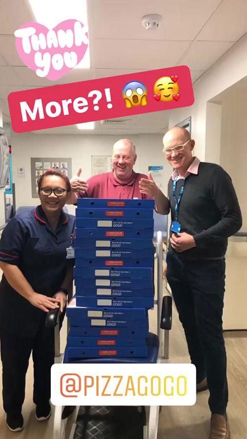 Pizza GoGo NHS Donation Crawley